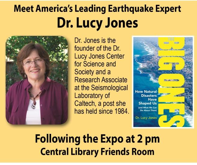 Dr. Lucy Jones at Newport Beach Library September 8 2018