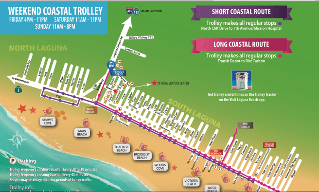 Laguna Beach Coastal Trolley Map 2018
