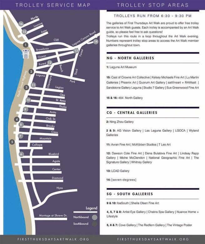 Laguna Beach First Thursdays Art Walk Fall 2018 Map