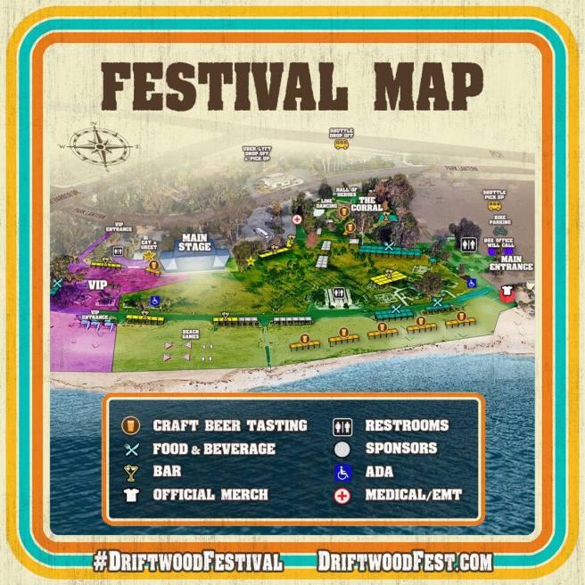 Driftwood Festival 2018 Festival Map