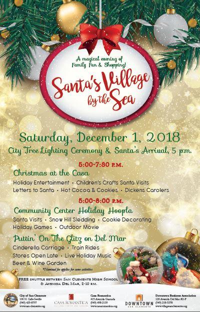 San Clemente Puttin' on the Gliz Saturday December 1 2018