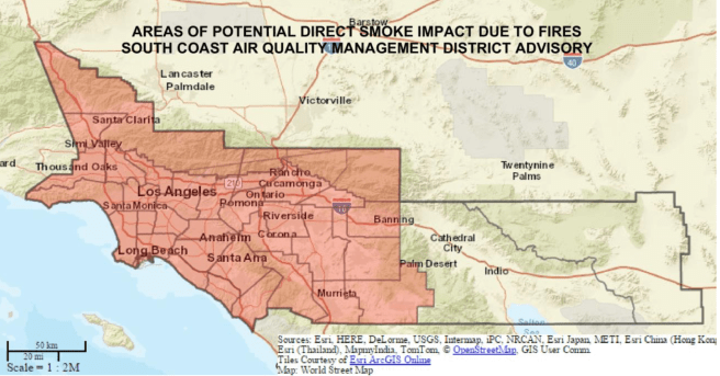 Southern California November 10 2018 Air Quality Map