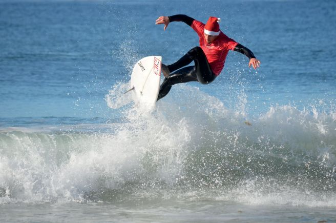 Surfing Santa Courtesy of RitzCarlton.com
