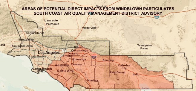 Southern California Air Quality Map November 9 2018