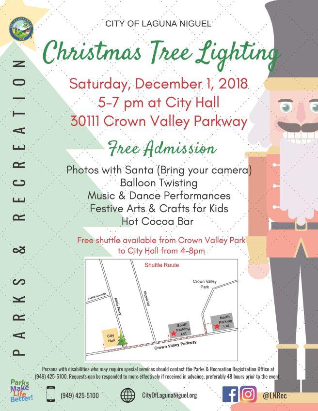 Laguna Niguel Tree Lighting December 1 2018