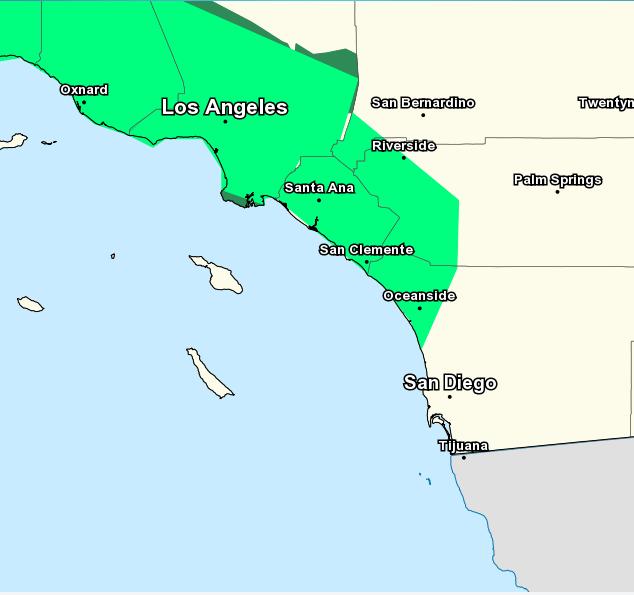 Southern California Flash Flood Advisory Thursday January 31 2019