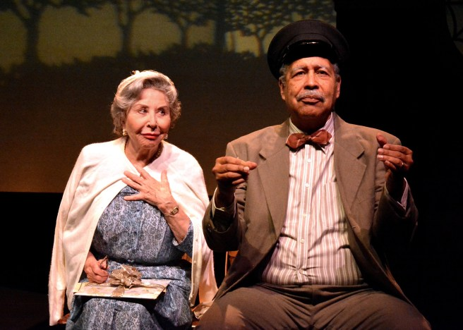 """Michael Learned and Lance E. Nichols star in the Laguna Playhouse production of """"DRIVING MISS DAISY"""" by Alfred Uhry, directed by Michael Bloom and now playing at the Laguna Playhouse in Laguna Beach."""