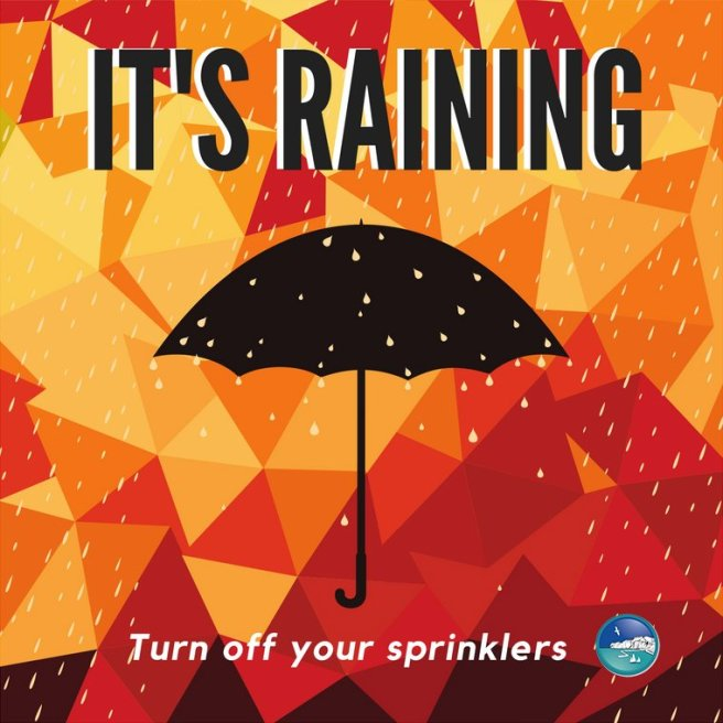 Rain Day Turn Off Sprinklers PSA