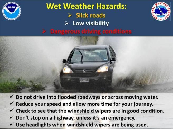Wet Weather Hazards PSA
