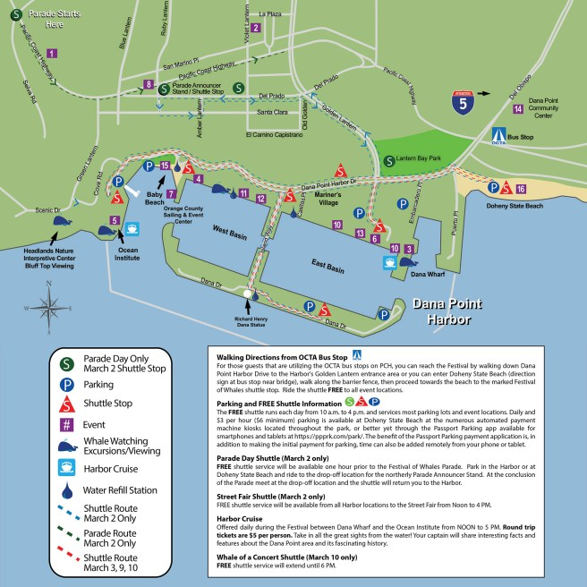 Dana Point Festival of Whales 2019 Event Map