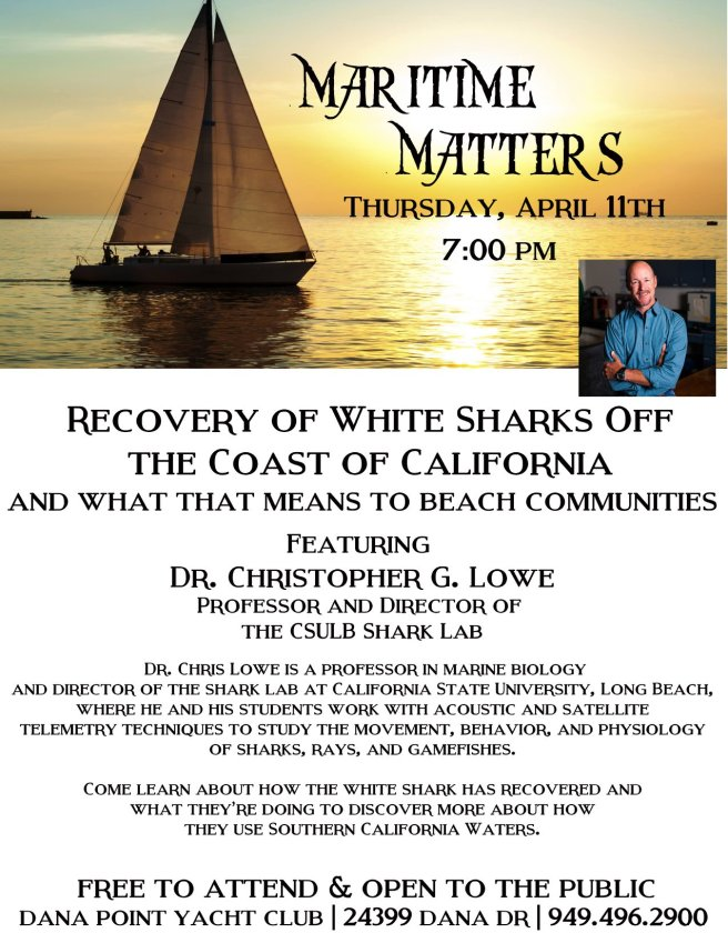 Dana Point Yacht Club Shark Night April 11 2019
