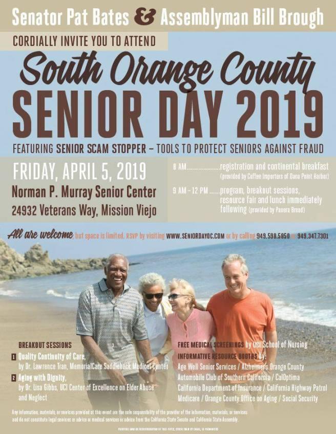 South Orange County Senior Day April 5 2019 Flyer