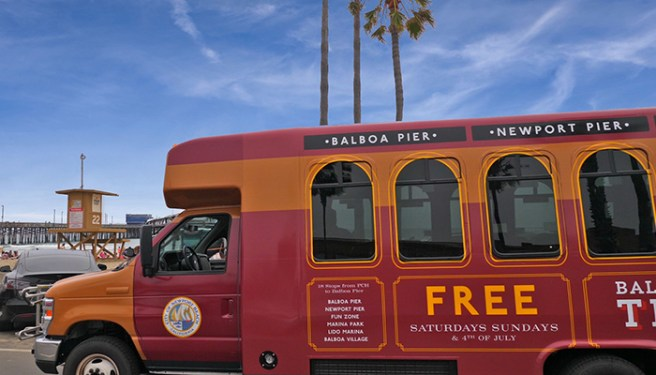 Newport Beach Trolley Courtesy of VisitNewportBeach.com
