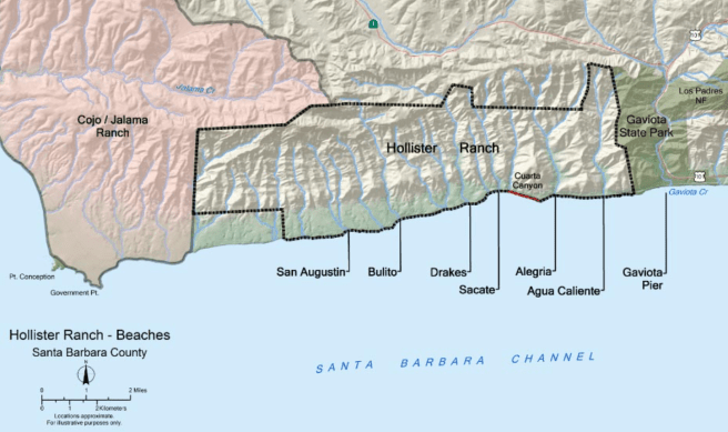 Hollister Ranch California Map Image Courtesy of California Coastal Commission