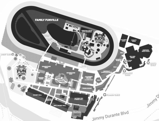 San Diego County Fair 2019 Map