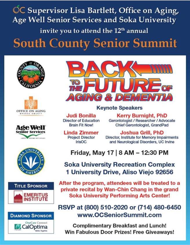 South Orange County Senior Summitt May 17 2019