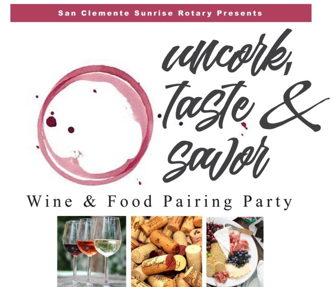 San Clemente Sunrise Rotary Food & Wine Pairing Party May 11 2019