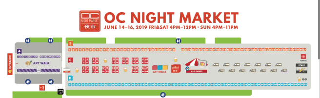 OC Night Market June 14-16 2019 Map and Directory