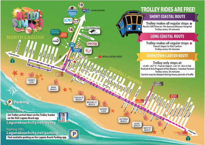 Laguna Beach Summer 2019 Trolley Map