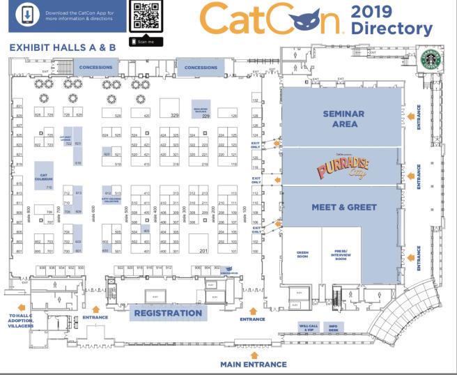 Cat Con 2019 Venue Map