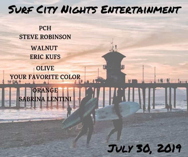 Huntington Beach Surf City Nights Live Music Schedule July 30 2019