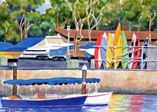 Watercolor Artist Pat Haas Courtesy of Facebook.com:ArtAFairLagunaBeach
