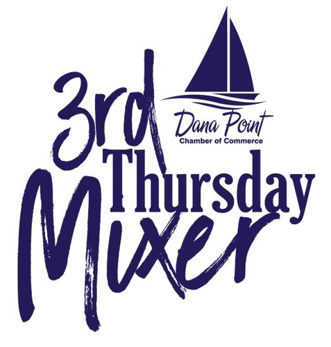 Dana Point California Chamber of Commerce 3rd Thursday Mixer Logo