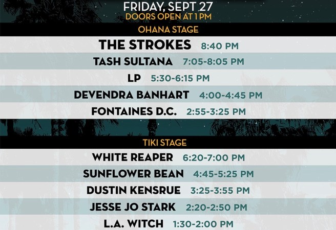 Dana Point Ohana Fest Friday September 27 2019 Lineup