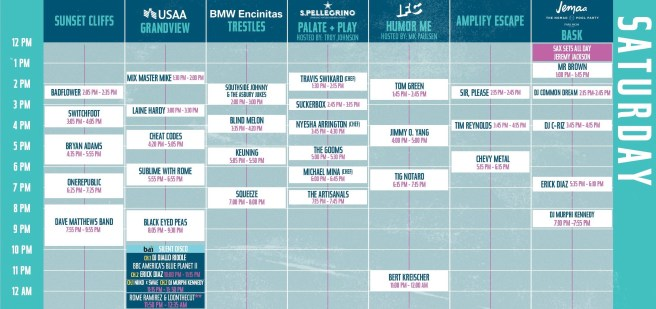 Kaaboo Del Mar Saturday September 14 2019 Lineup