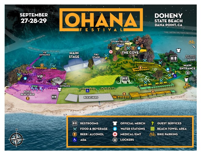 Ohana Festival September 27-29 2019 Festival Map