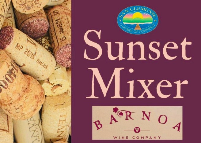 San Clemente Chamber of Commerce Sunset Mixer at Barnoa Wine Company September 5 2019