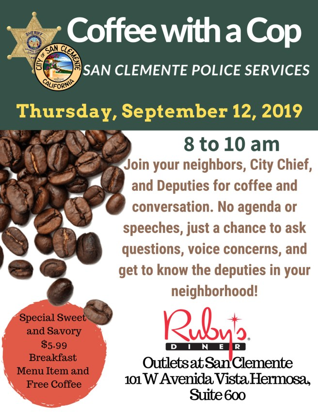 coffee with a cop san clemente california september 12 2019