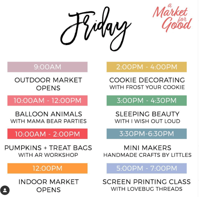 San Clemente A Market For Friday October 18 2019 Schedule
