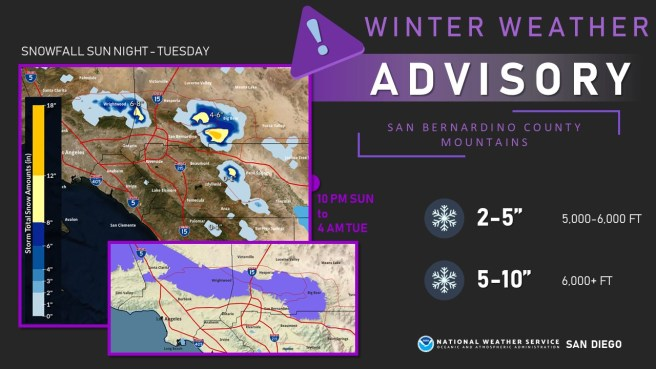Southern California Snow Report Monday December 23 2019