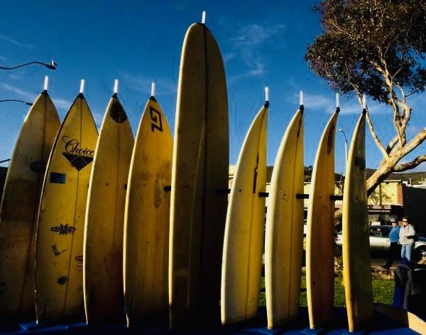 Surfboard Menorah Lighting Courtesy of Chabad Laguna Beach