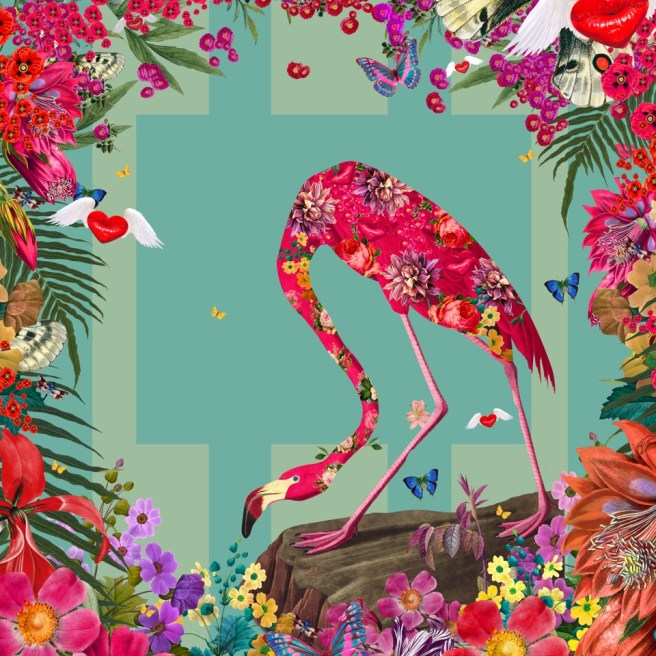 David Krovblit's Paradise Flamingo at Laguna Art Museums California Cool Art Auction 2020