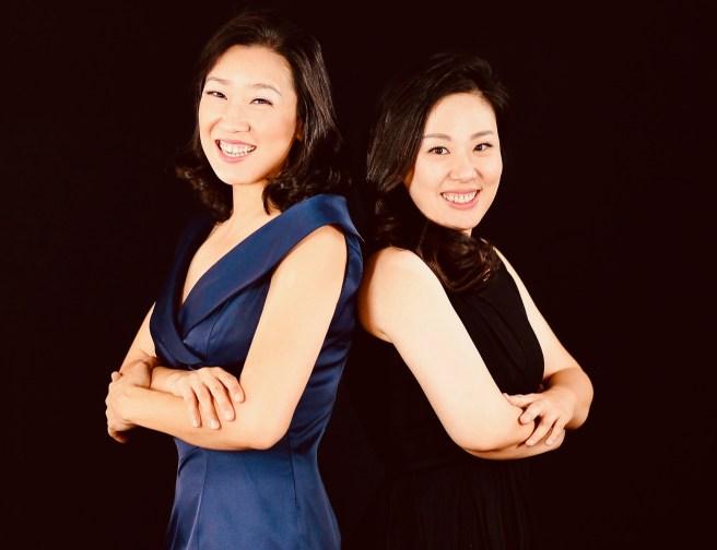 Pianists Kookhee Hong and Minji Noh Courtesy of pianoduoart.com