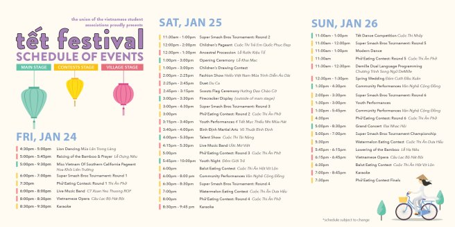Orange County Fairgrounds Tet Festival Schedule January 24-January 26 2020