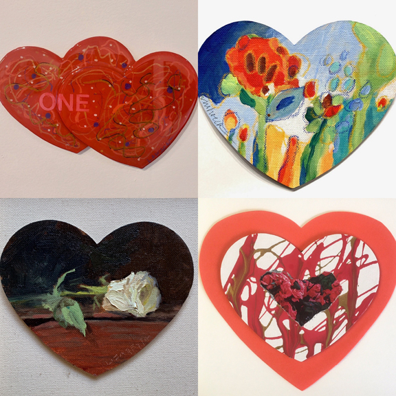Art with Heart at Cove Gallery Laguna Beach Courtesy of First Thursdays Art Walk