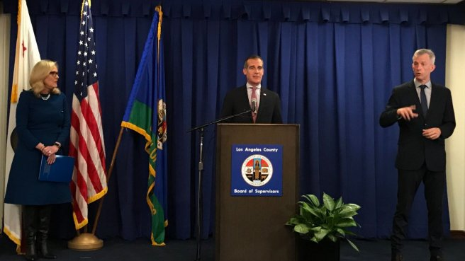 LA Mayor Eric Garcetti Issues Safer At Home Emergency Order March 19 2020