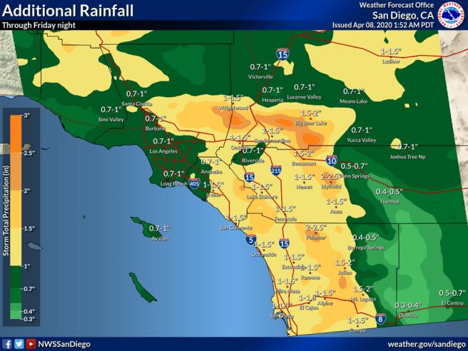 NWS San Diego Forecast April 8 2020