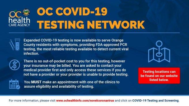 Orange County Health Care Agency COVID-19 Testing Network