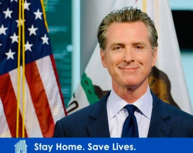 California Governor Gavin Newsom Monday April 20 2020 Courtesy of SouthOCBeaches.com