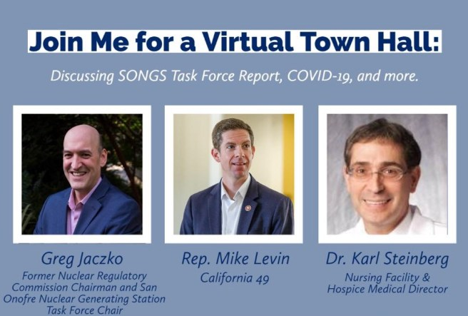 Mike Levin COVID-19 Virtual Town Hall July 8 2020