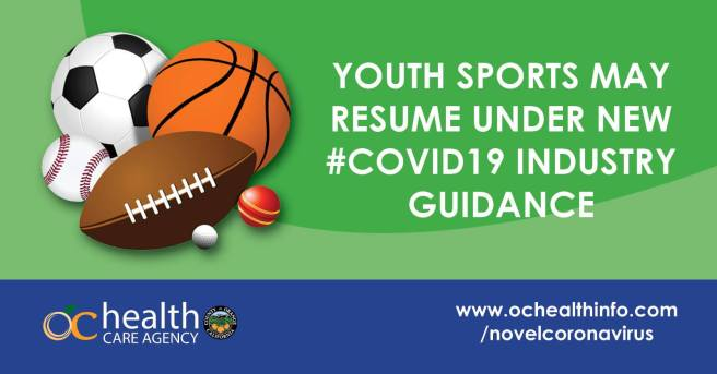 Orange County California Youth Sports Resumes Under COVID-19 August 2020