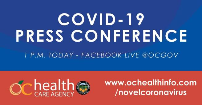 Orange County Health Care Agency COVID-19 Facebook Live Press Conference Augsut 6 2020