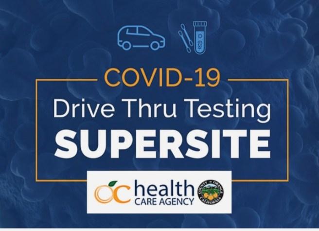 Orange County Fairgrounds COVID-19 Drive Thru Testing Super SIte