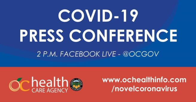 Orange County COVID-19 Facebook Live Press Conference Thursday September 10 2020