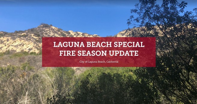 Laguna Beach California Special Fire Season Update September 28 2020