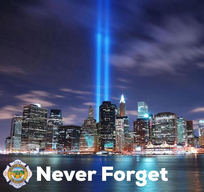 Orange County Fire Authority Remembers 9-11 in 2020